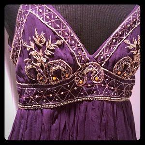 ABS Purple beaded formal dress 4